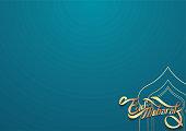 Eid Mubarak Design Background vector for banner, greeting card template with arabic galligraphy wishes Eid Mubarak for Saudi Arabia and muslim people- Translation: Eid Mubarak.
