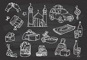 Islamic doodle on black board
