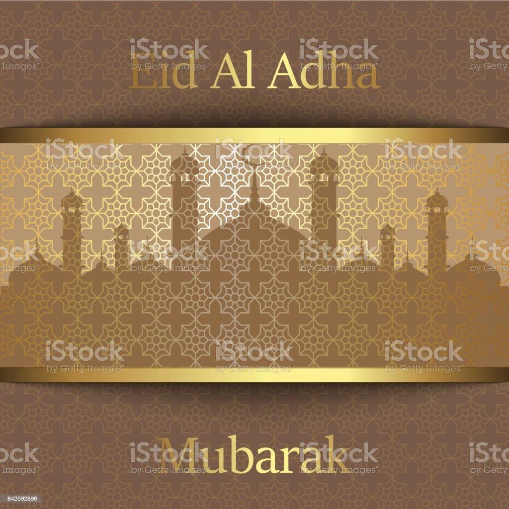 Islamic festival of sacrifice eid al adha mubarak greeting card islamic festival of sacrifice eid al adha mubarak greeting card vector background royalty m4hsunfo