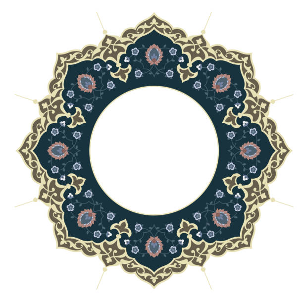 ilustrações de stock, clip art, desenhos animados e ícones de islamic frame - cora��o