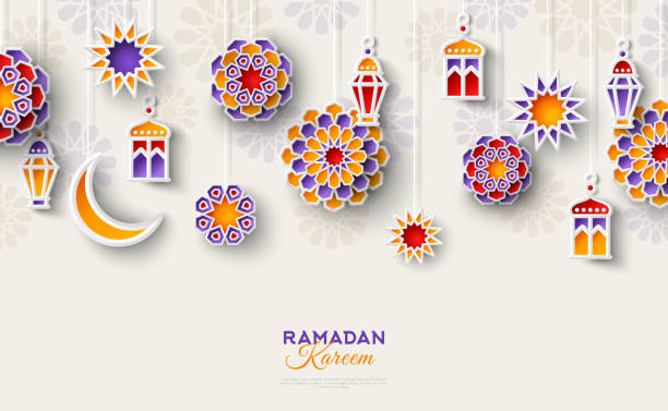 islamic geometric decoration - ramadan stock illustrations, clip art, cartoons, & icons