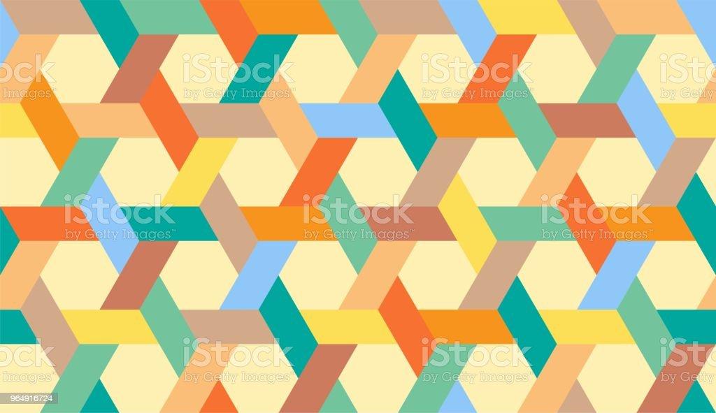 伊斯蘭幾何無縫圖案 - 免版稅三角形圖庫向量圖形