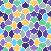 Islamic geometric composition vector pattern illustration. Abstract background design with vibrant colors.