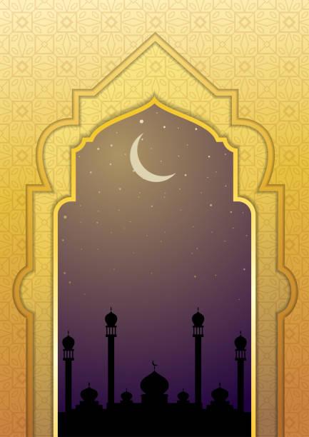 Islamic golden luxurious banner vector art illustration