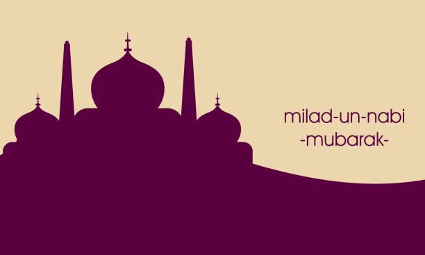 stockillustraties, clipart, cartoons en iconen met islamitische wenskaart ontwerp eid mubark - minaret