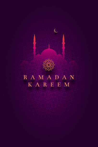 islamic greeting card design for ramadan kareem - ramadan stock illustrations, clip art, cartoons, & icons