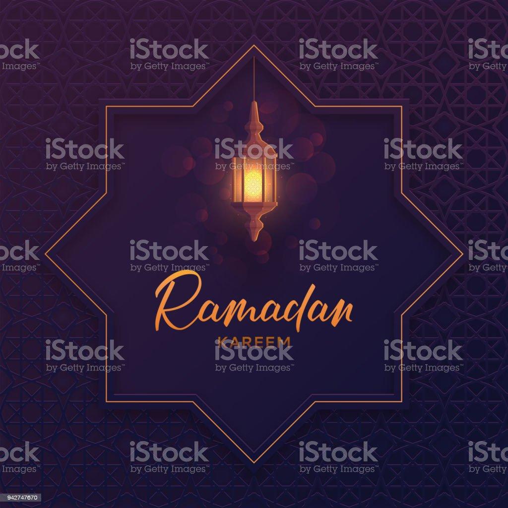 Islamic Greeting Card Ramadan Kareem Stock Vector Art More Images