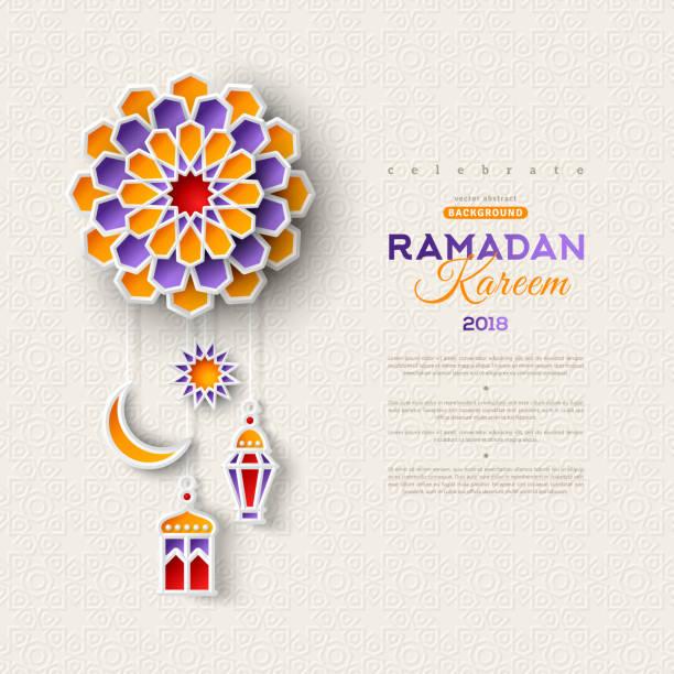 ilustraciones, imágenes clip art, dibujos animados e iconos de stock de luna, estrella y linternas islámicas - ramadán