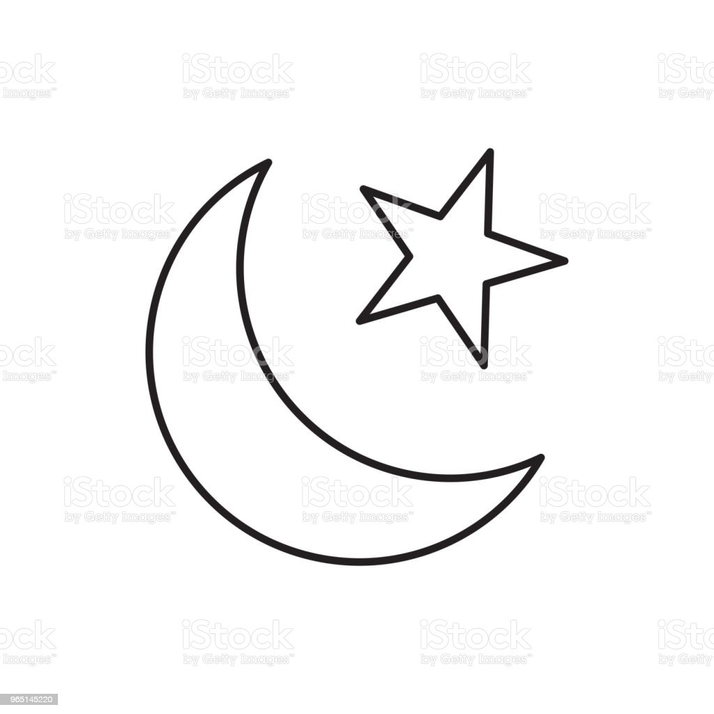 islamic moon star icon royalty-free islamic moon star icon stock illustration - download image now