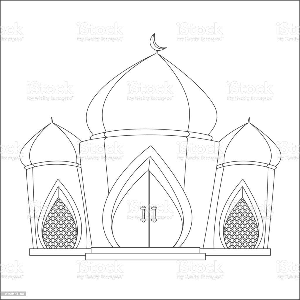 Islamische Moschee Malvorlagen Stock Vektor Art Und Mehr Bilder Von