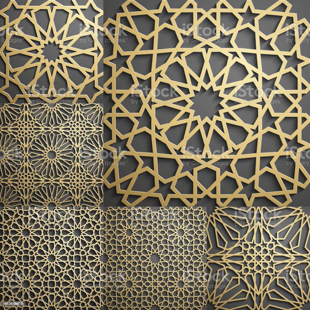 Papier Peint À Motifs se rapportant à motif islamique motif géométrique arabe sans soudure ornement orient