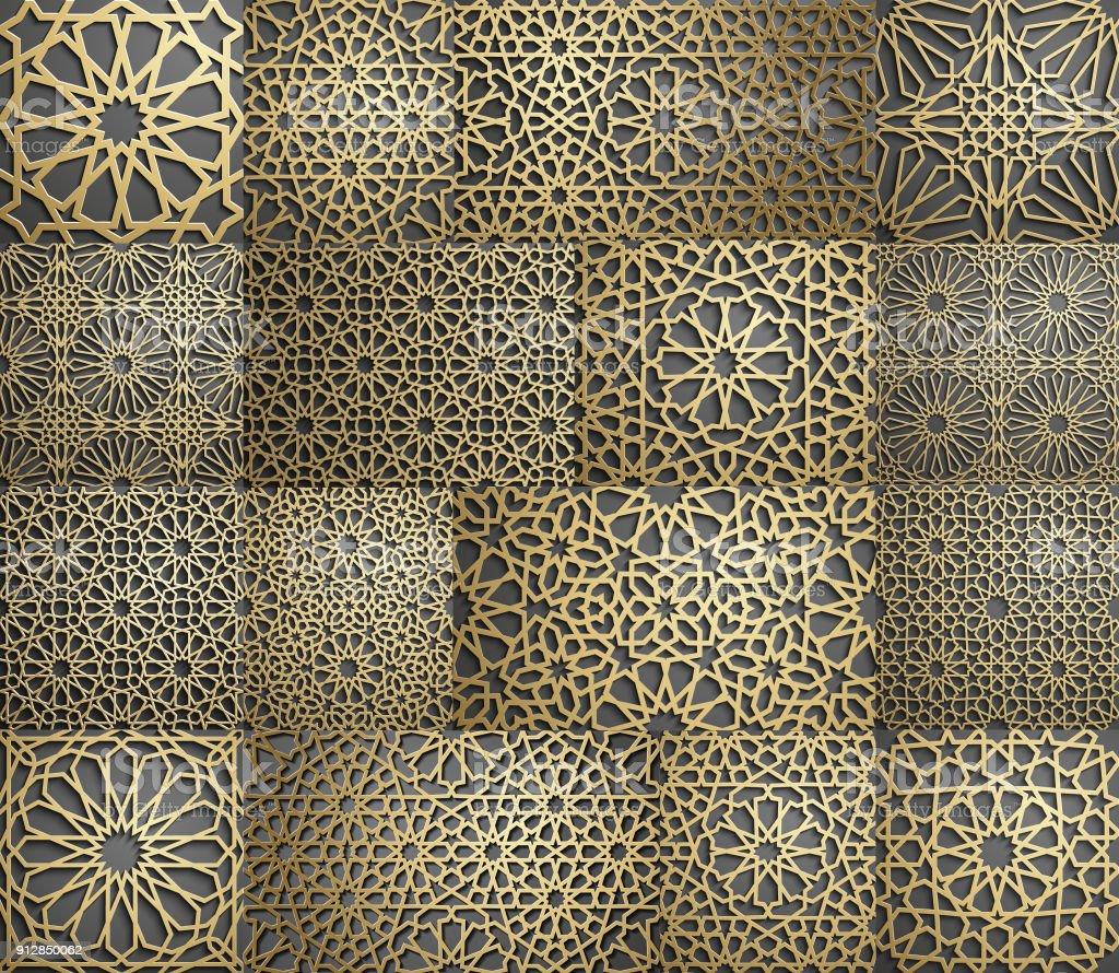 Papier Peint À Motifs tout motif islamique motif géométrique arabe sans soudure ornement orient