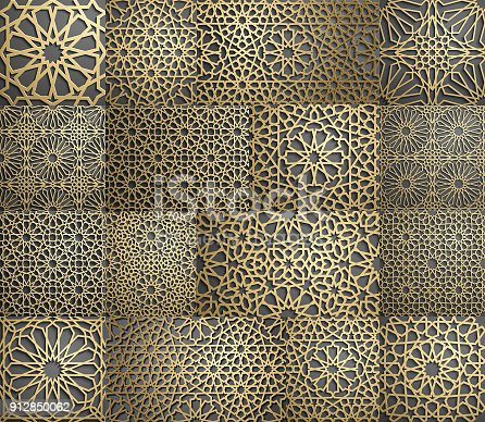 islamische muster nahtlose arabische geometrische muster. Black Bedroom Furniture Sets. Home Design Ideas