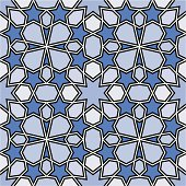 Seamless Islamic pattern. Tiles endlessly.