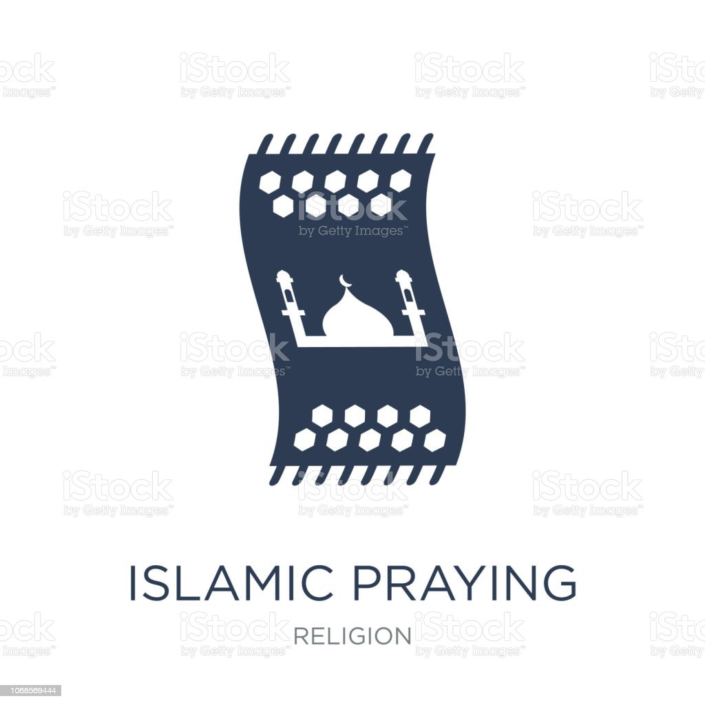 Islamic Praying Carpet icon. Trendy flat vector Islamic Praying Carpet icon on white background from Religion collection vector art illustration