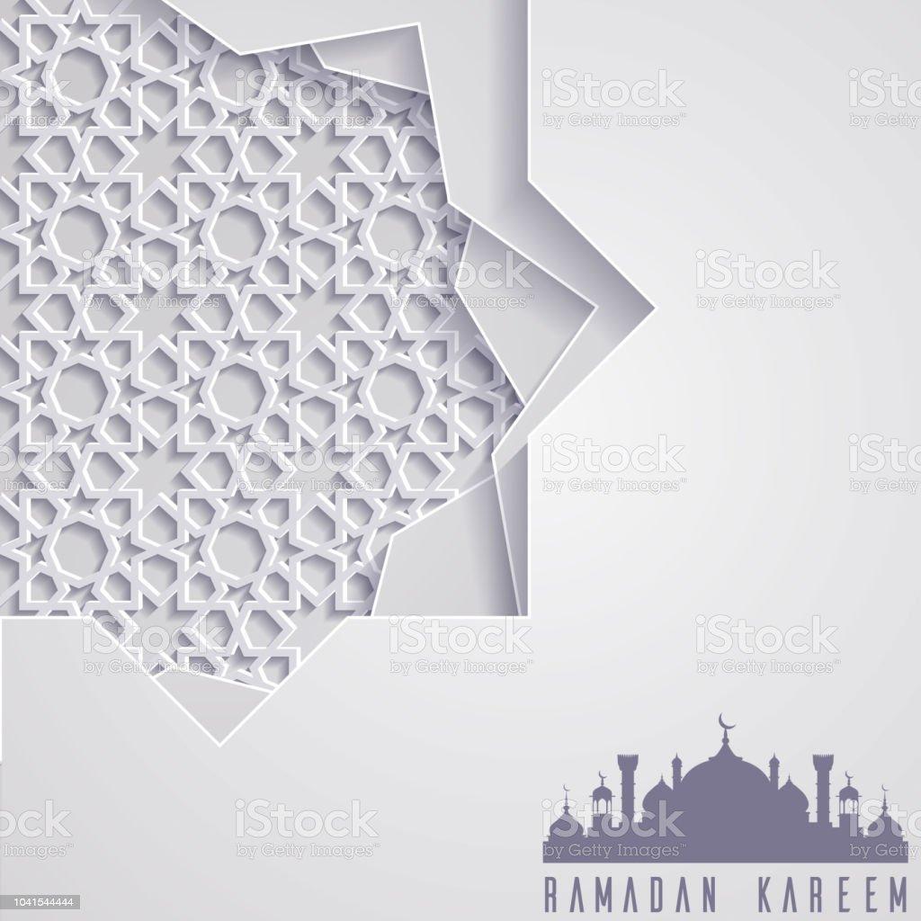 Islamic ramadan kareem greeting card template vector art illustration