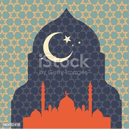 istock Islamic Ramandan design 480052418