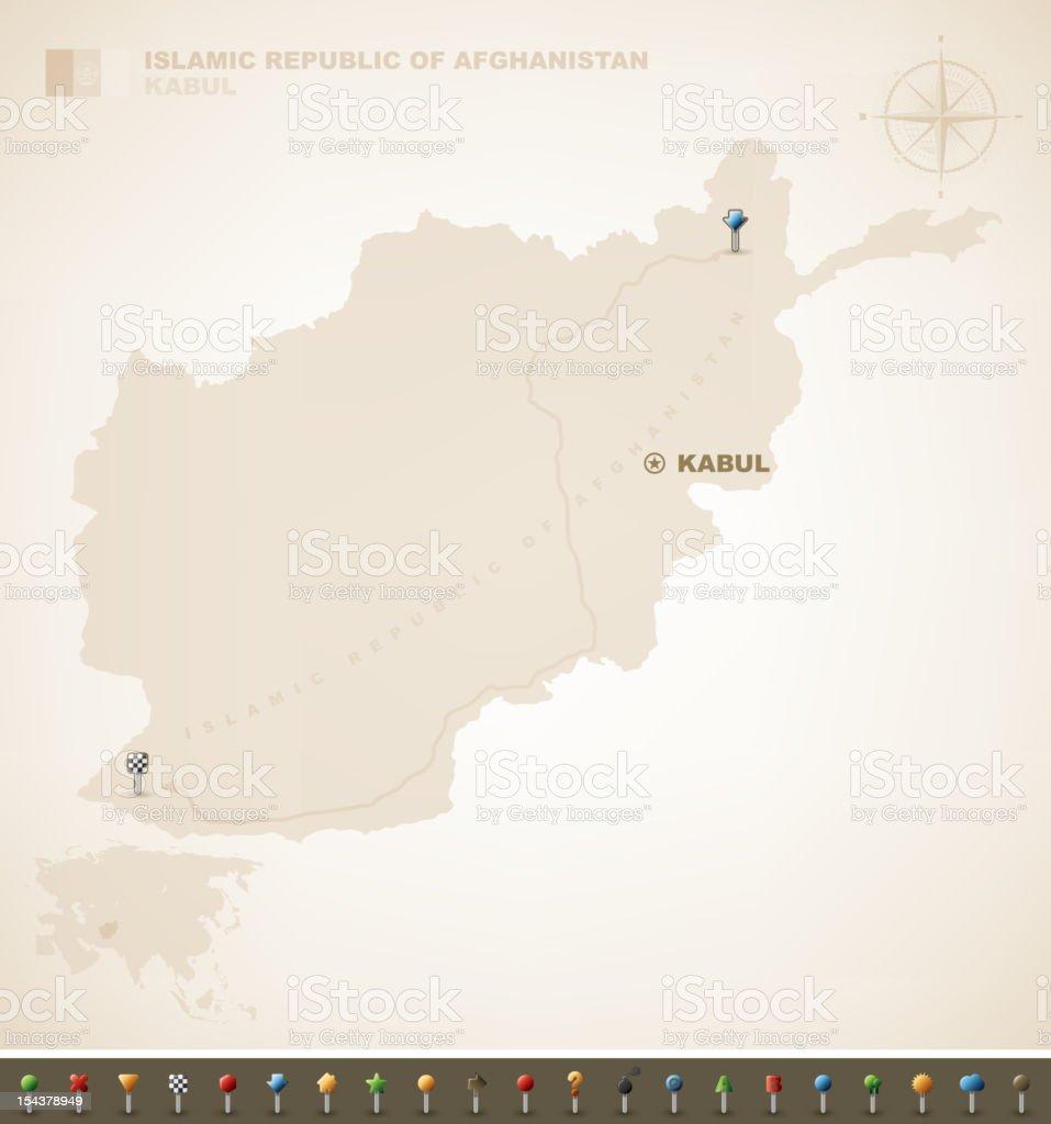 Islamic Republic of Afghanistan royalty-free stock vector art