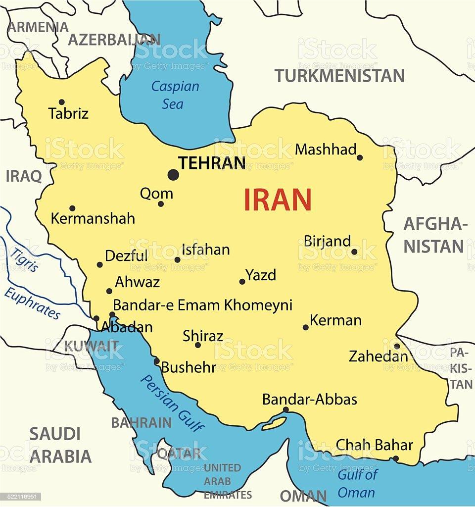 República Islâmica do Irã-vetor mapa - ilustração de arte em vetor