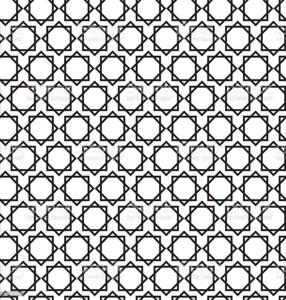 Islamic Seamless Art Pattern Eightpointed Star Stock Vector Art ...