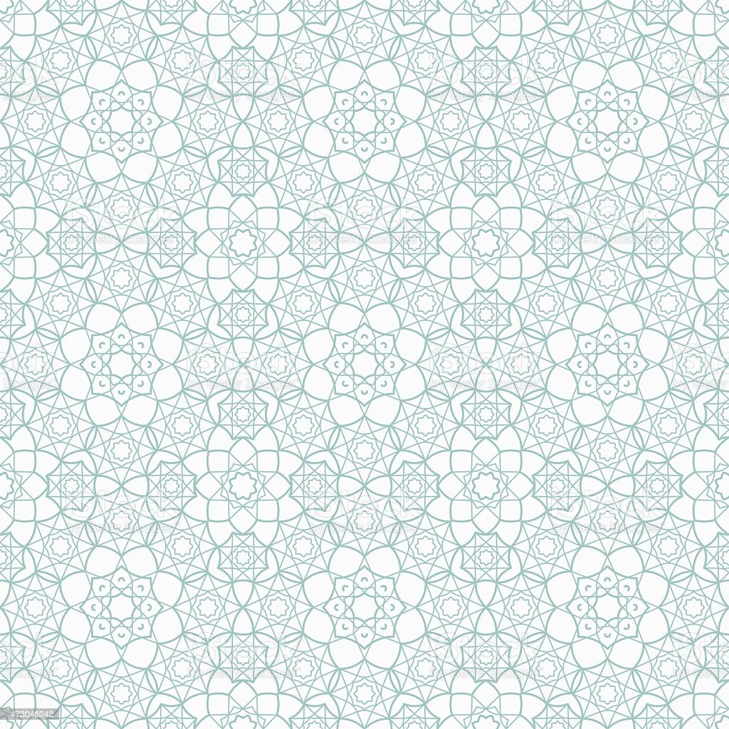 Islamic Seamless Pattern vector art illustration