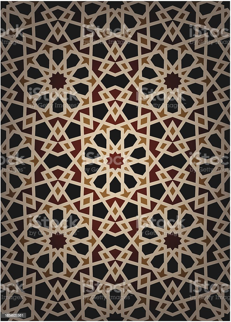 Illustration of Center lit Seamless islamic pattern taken from mosque...