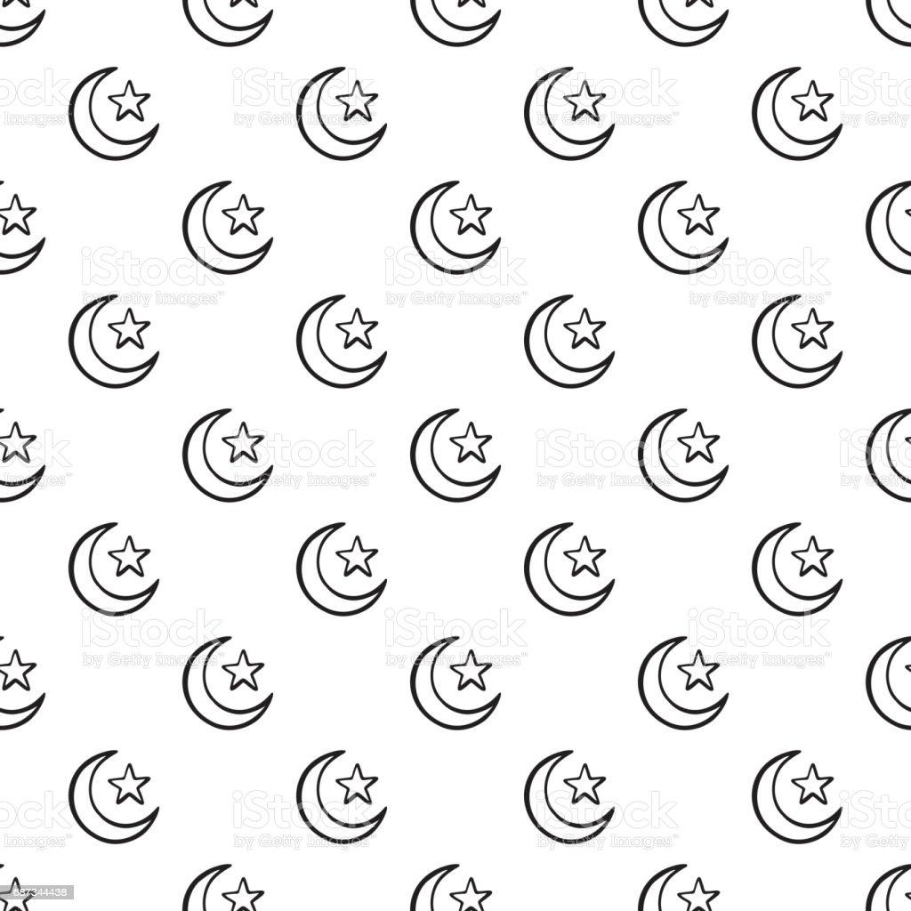 Islamic symbol crescent moon with star seamless pattern stock islamic symbol crescent moon with star seamless pattern royalty free islamic symbol crescent moon with biocorpaavc Gallery