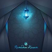 vector Islamic vector design greeting card and banner background for Ramadan Kareem