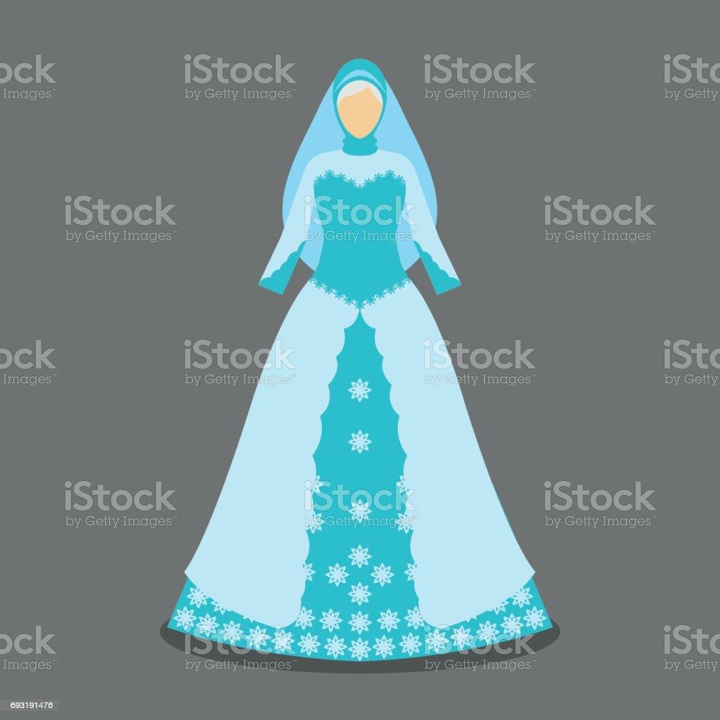 Islamic Wedding Dress For The Muslim Bride In Modern Styles Vector ...