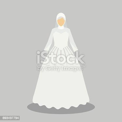 Islamische Brautkleid Für Die Muslimische Braut In Modernem Stil ...
