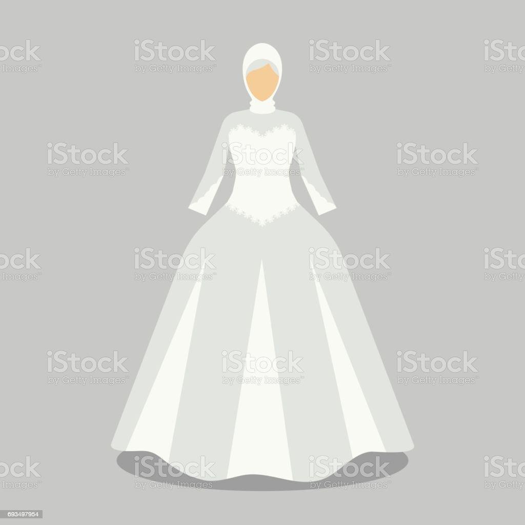 Robe De Mariage Islamique Pour La Mariee Musulmane Dans Des