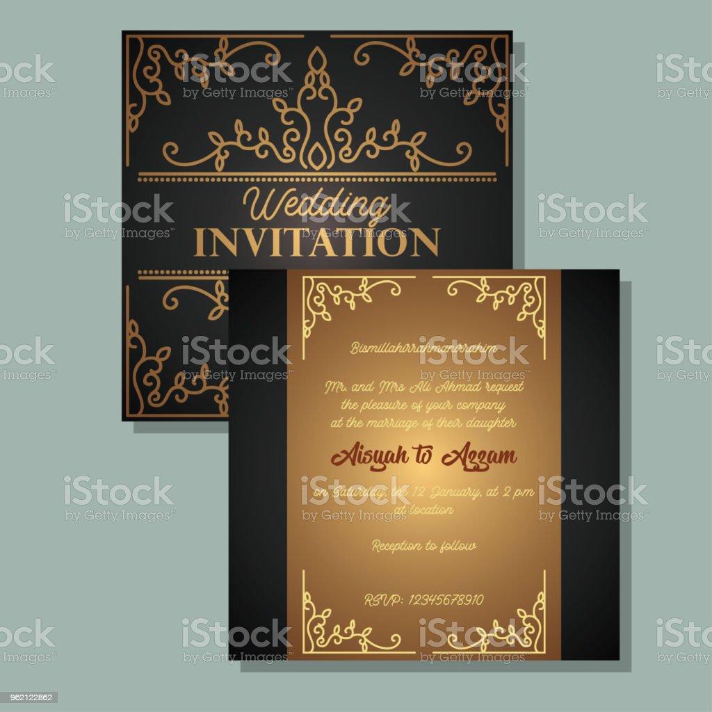 Ilustración de Plantilla De Invitación De Boda Islámica Ilustración ...