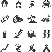 Island Alive Silhouette icons
