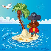 Vector Island and Pirate captain
