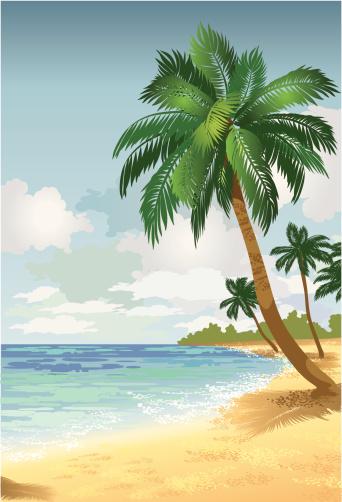 Island Paradise2 Stockvectorkunst en meer beelden van Buitenopname