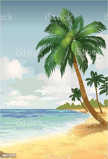 Island Paradise2-vektorgrafik och fler bilder på Dag