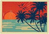 island vintage postcard