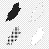Map of Isle of Man for your own design. With space for your text and your background. Four maps included in the bundle: - One black map. - One blank map with only a thin black outline (in a line art style). - One mosaic map. - One white map with a thin black outline. The 4 maps are isolated on a blank background (for easy change background or texture).The layers are named to facilitate your customization. Vector Illustration (EPS10, well layered and grouped). Easy to edit, manipulate, resize or colorize.