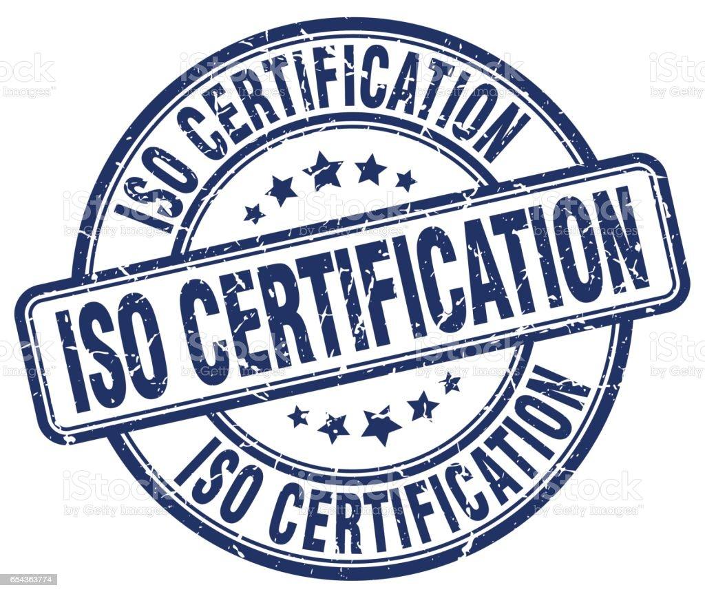 Iso Certification Blue Grunge Stamp Stock Vector Art ...