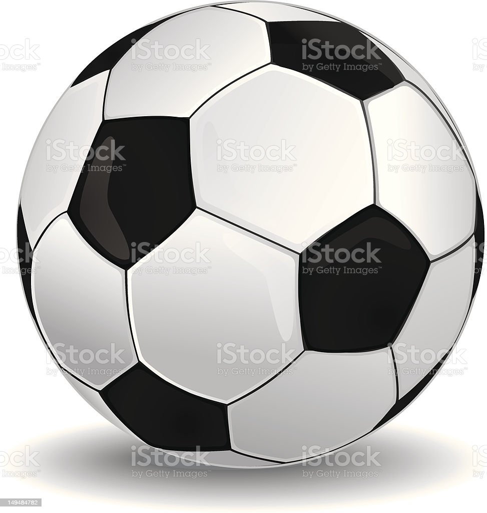 Isolate  soccer ball  with shadow royalty-free stock vector art