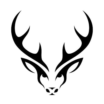 Isolated abstract deer