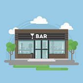 Isolated alcohol bar building.