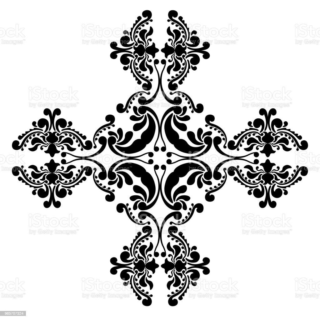 Geïsoleerde arabesque patroon - Royalty-free Abstract vectorkunst