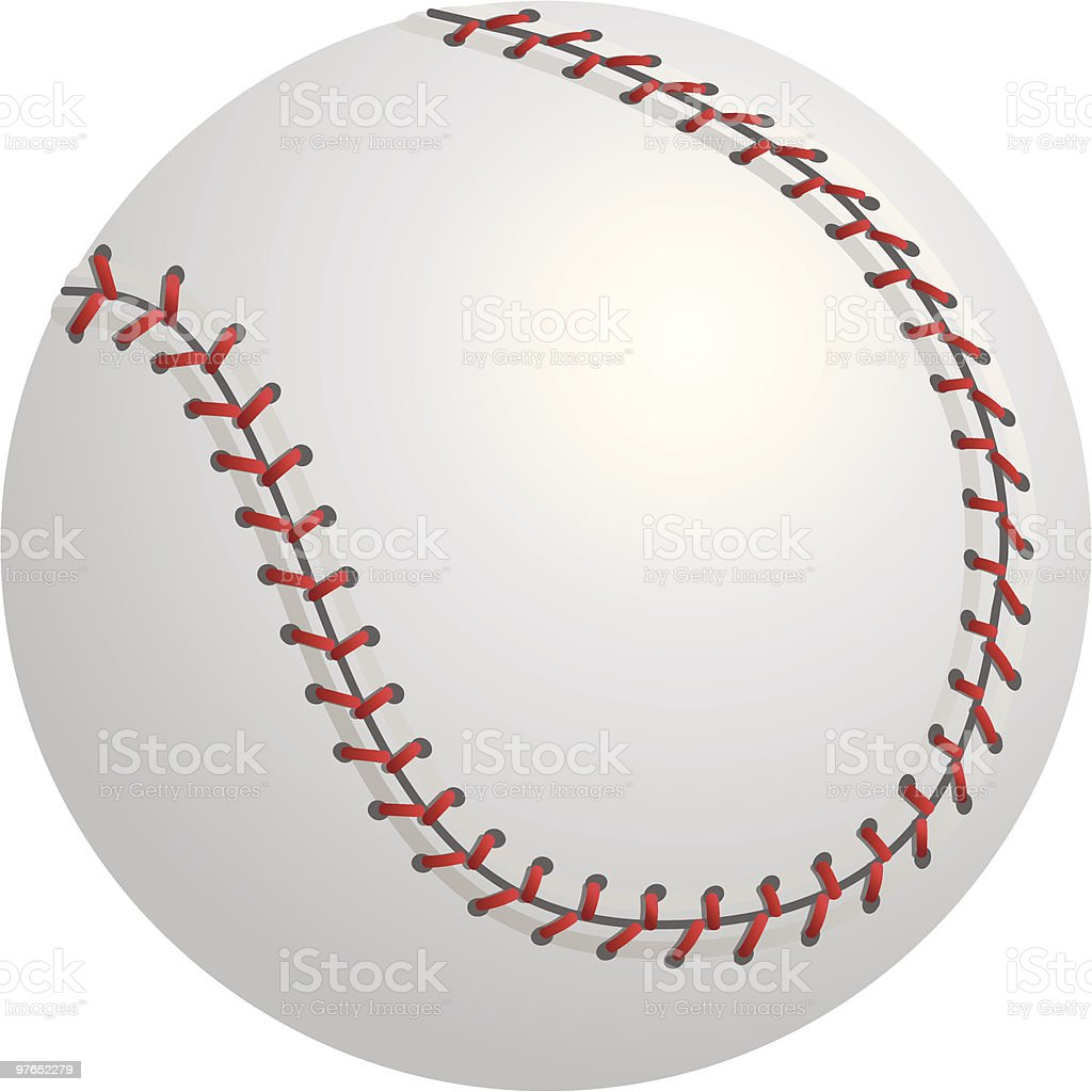 Isolated Baseball or Softball vector art illustration