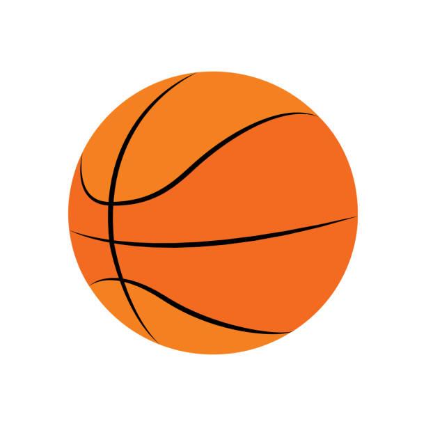 isolierter basketballball - basketball stock-grafiken, -clipart, -cartoons und -symbole