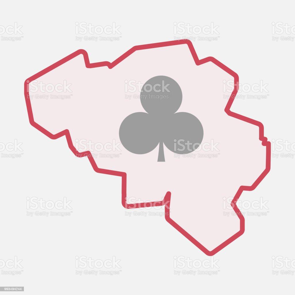Carte Belgique Jeux.Carte De Belgique Isole Avec Le Signe De Jeux De Cartes De Poker Club Vecteurs Libres De Droits Et Plus D Images Vectorielles De Affaires