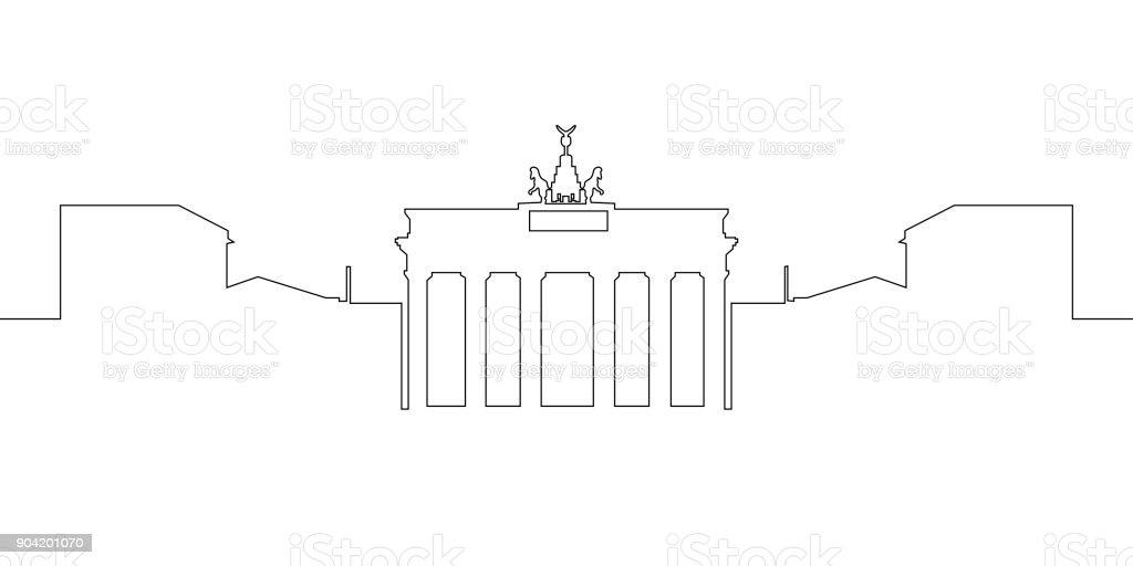 Isolierte Berliner Stadtbild – Vektorgrafik