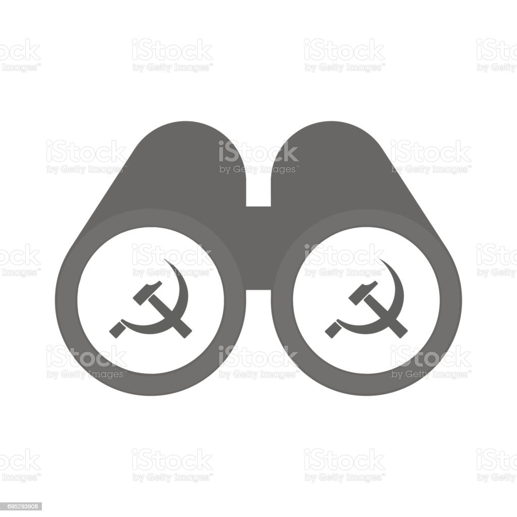 Isolated Binoculars With The Communist Symbol Stock Vector Art