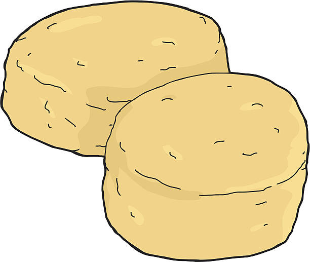 Isolated Biscuits vector art illustration