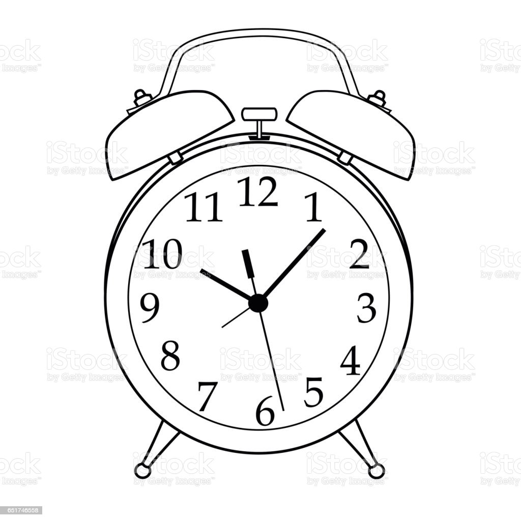 isolated black and white cartoon alarm clock stock vector art more Analog Alarm Clock isolated black and white cartoon alarm clock royalty free isolated black and white cartoon
